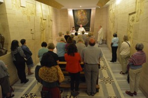 Mass celebrated in the Lithuanian Chapel in the crypt near the tomb of St. Peter in St. Peter's Basilica