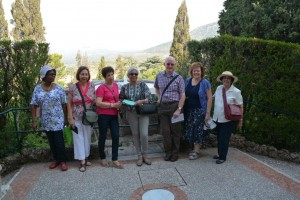 In the fountain gardens of the Villa D'Este at Tivoli