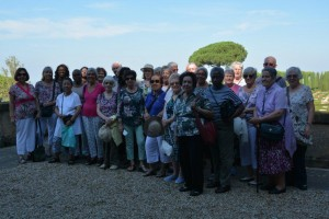 Group photo in the Barberini Gardens of the Papal Palace at Castel Candolfo