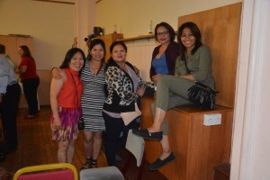 From left to right: Vangie Bisnar, Me-Ann Tapleras, Regs Causapin, Beckie Belcher & Lina Corpuz