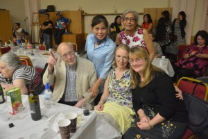 Front: Father John Helm, Ruth Hill & June Kavanaugh. Back: Tina Toemion and Jyoti Ramchand