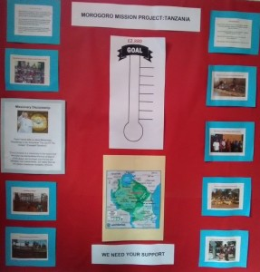 Project notice board in the Church Hall