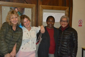Some of the team members - left to right: Maggie Kolecka, Shahnaz Alfaioli, Joy Wandera and Jyoti Ramchand
