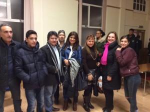 Left to right: Tito Zumpano with son, Wilmar Ramirez, Alejandro in the back, Deysi Miranda Moreno, Fabiola Gomez-Ramirez, Teresa Cabello-Zumpano with daughter