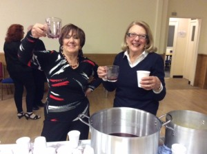 Our hot toddy ladies - Angie Imperato and Kate Fugallo