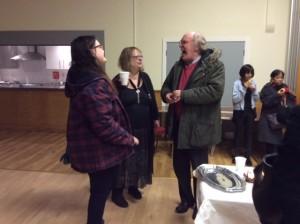 Revd. Dr. Ian Tutton having a nice chat
