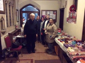 Deacton Anthony with some of the volunteers in the Porch
