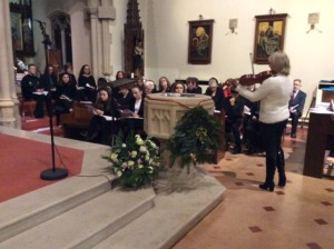 Choir with Mary Whittle Jones playing the viola
