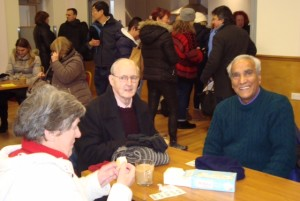 Parishioners enjoying their coffee morning during the draw