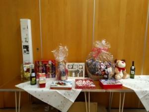 Prizes on display