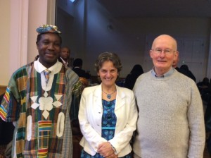 Emmanual & Irena Akoumany with Father Tony Convery (our Parish Priest)
