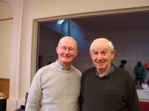 Father Tony Convery with Alan Brudney