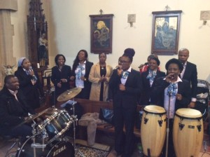 The African Choir who sang prayers and hymns