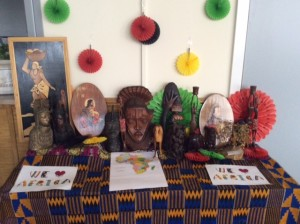 African artifacts on sale