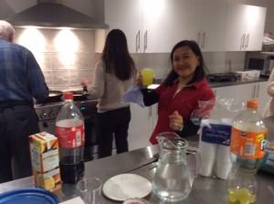 Rowena Ledesma - one of the pancake makers
