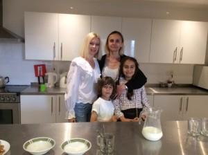 Jurate Papadopoulas & Brzozowska with Adam and Ella